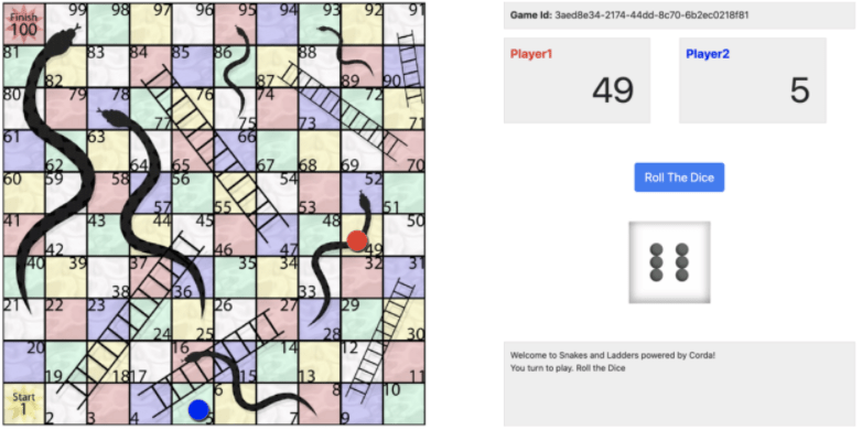 Snakes and Ladders on Corda